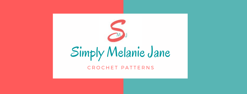 One of two businesses supporting Wigs For Kids. Banner logo for Simply Melanie Jane in the colors coral and teal. Logo is the letter S with M and J on either side.