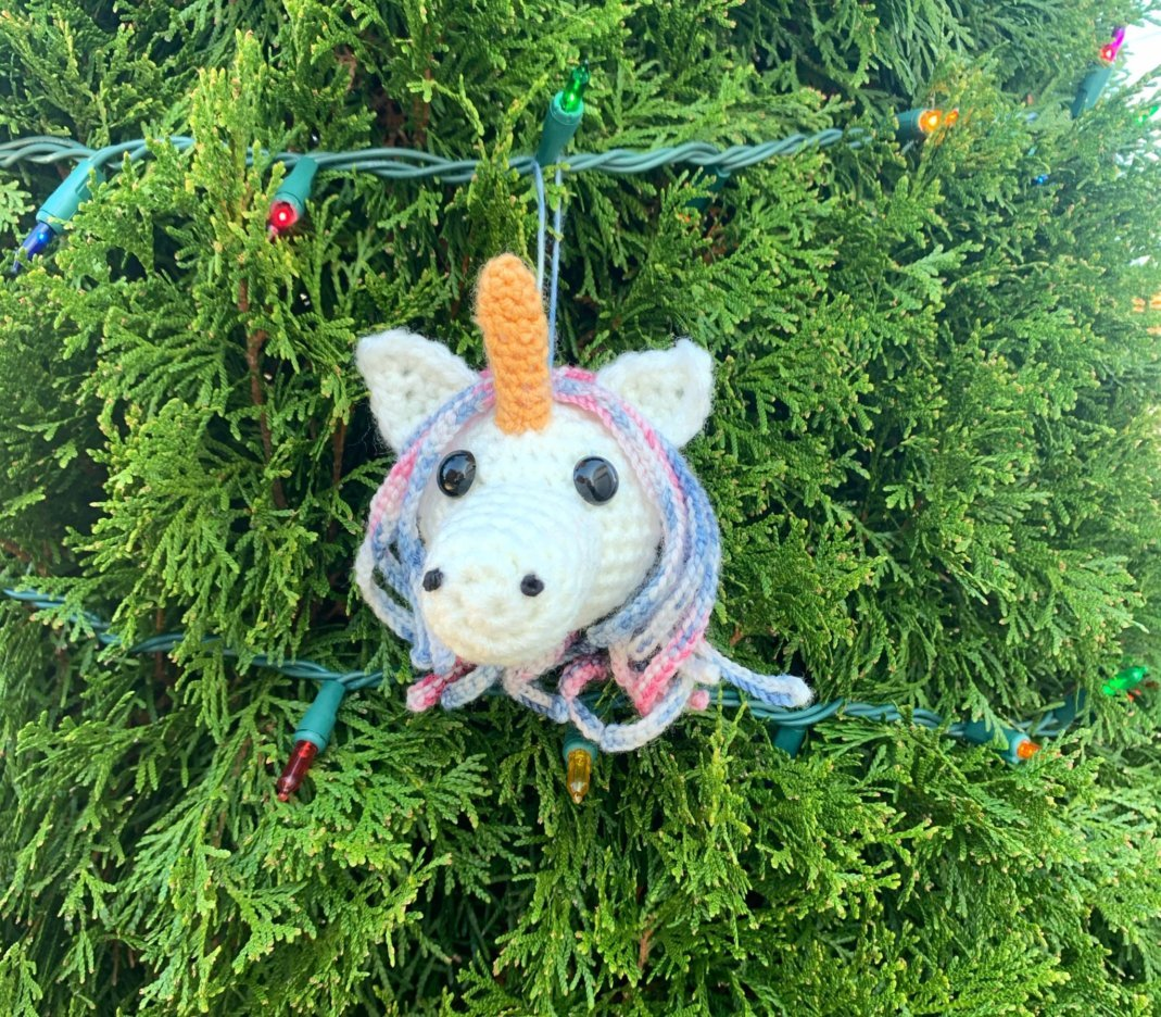 Amigurumi Unicorn Ornament Crochet Pattern