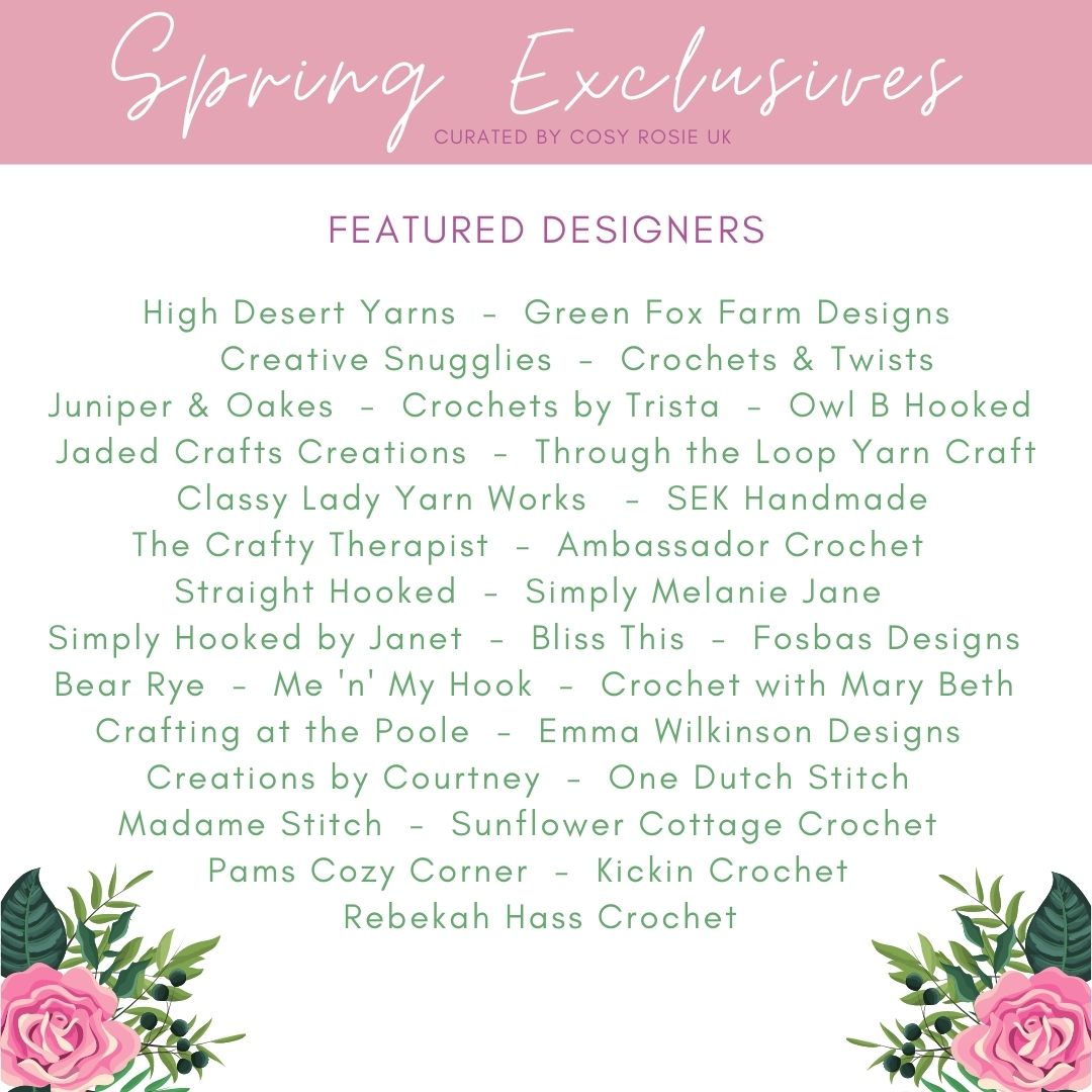 Spring Exclusives Crochet Patterns