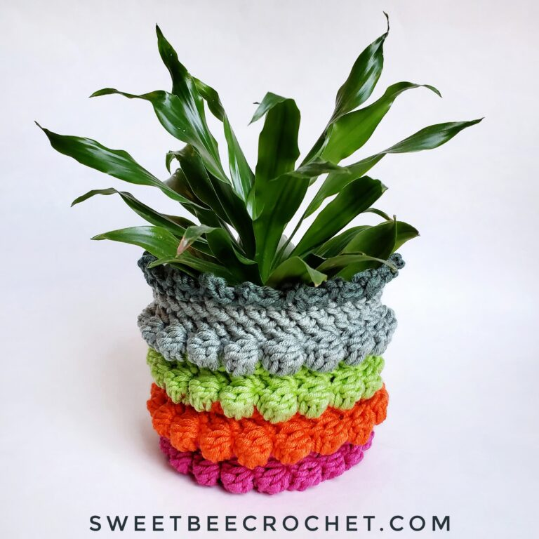 Nothing says spring home decor more than a colorful plant cozy.